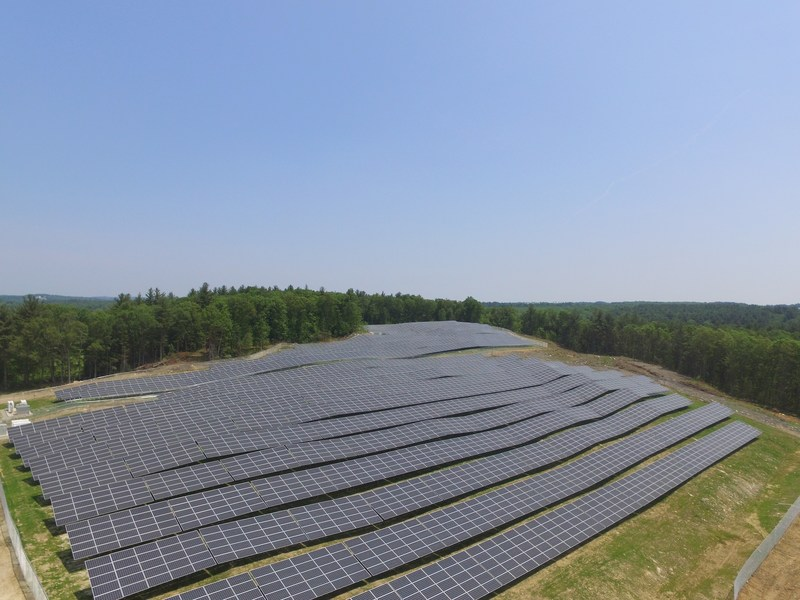 One of 20 community solar projects.