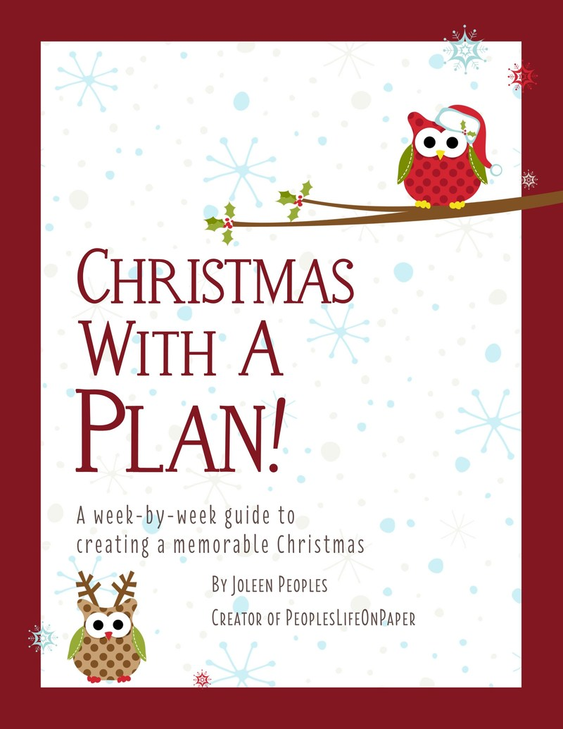 Christmas With a Plan! workbook helps busy families enjoy an organized and memorable holiday. The 122-page book also serves as a keepsake journal of cherished memories and photos. Available at Amazon.com and everywhere books are sold.