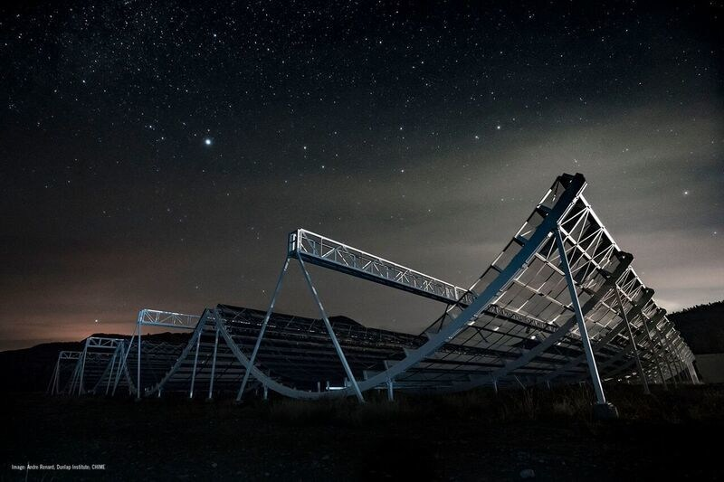The Canadian Hydrogen Intensity Mapping Experiment, known as CHIME, is an extraordinarily powerful new telescope. Credit : Andre Renard, Dunlap Institute of Astronomy & Astrophysics, U of Toronto; CHIME. (CNW Group/National Research Council Canada)