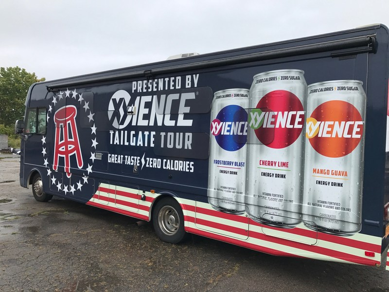 "Starting Saturday, September 9, 2017, Barstool Sports will travel across the country in the ""XYIENCE Tailgate Tour"" RV, stopping and sampling XYIENCE at ten of this season's most exciting college football matchups.  www.xyience.com"