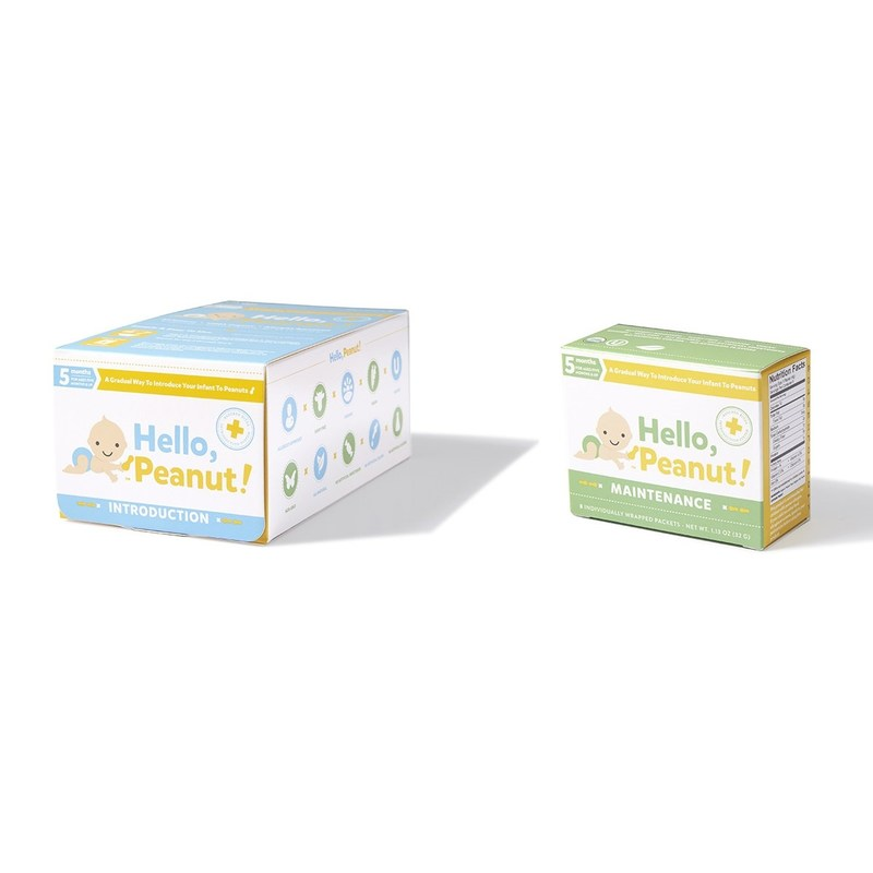 Hello, Peanut! is the only product of its kind to provide parents a simple and safe way to gradually introduce peanuts to their infants as young as five months of age to reduce the chance of a peanut allergy developing.