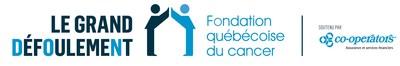 Logo : Le Grand défoulement de la Fondation québécoise du cancer, soutenu par Co-operators (Groupe CNW/Fondation québécoise du cancer)