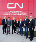 CN unveils the renamed Claude Mongeau National Training Centre in Winnipeg after former president and chief executive officer Claude Mongeau
