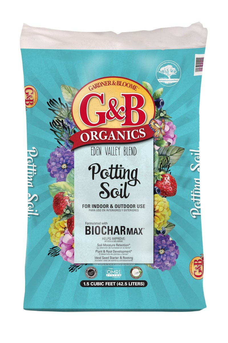 KELLOGG GARDEN ORGANICS Organic Select Potting Mix Formulated With BiocharMax A Premium Indoor & Outdoor Potting Mix