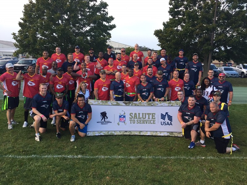 The NFL and USAA recently hosted an event supporting Wounded Warrior Project, at Hanscom AFB, to kickoff the 2017 football season!