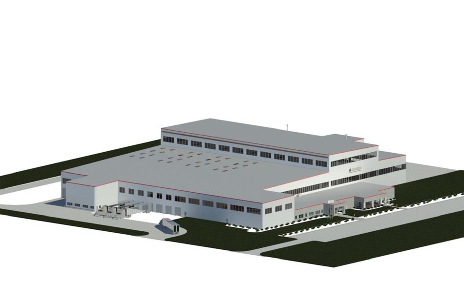 A rendering of Magna's new aluminum casting facility in Birmingham, Alabama.  The new facility will feature a manufacturing process that further enables Magna to provide lightweighting and part-reduction solutions for automakers. (CNW Group/Magna International Inc.)