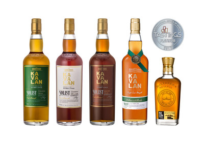 Kavalan scoops five Platinums at 2017 IRS competition (PRNewsfoto/Kavalan)
