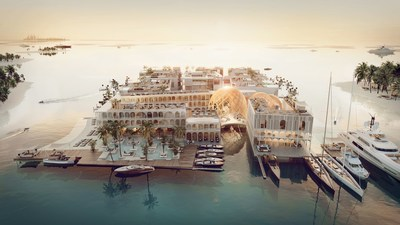 The Floating Venice Arial Overview (PRNewsfoto/Kleindienst Group)