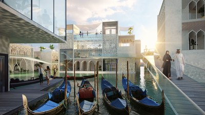 The Floating Venice gondola and Ca d'Oro view (PRNewsfoto/Kleindienst Group)