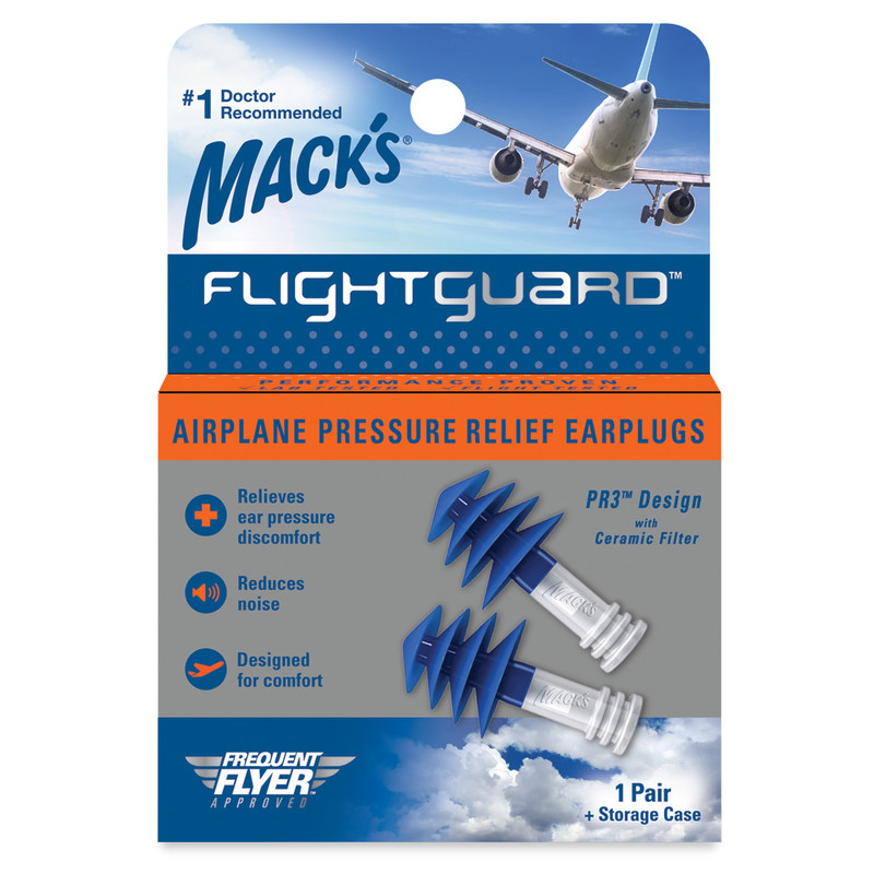 Mack's® Flightguard® Airplane Pressure Relief Earplugs: a product designed specifically for today's hectic travel to provide flyers with a better, more comfortable flight experience.