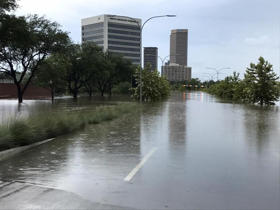 Flood damage in Houston following Hurricane Harvey