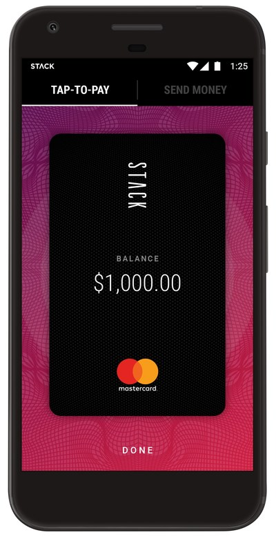 STACK™ partners with Mastercard to launch the first digital money account with mobile tap-to-pay functionality. (CNW Group/STACK)