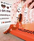 Bridget Bahl (@bridgethelene) inside Aldo's LOVE WALK room at 29Rooms (PRNewsfoto/Aldo)