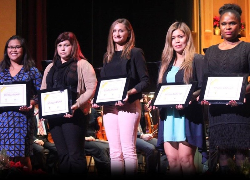 Last year's Homefront Heroes scholarship recipients accept their awards.