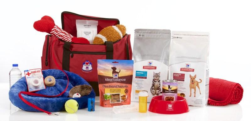 A sample pet emergency go-kit.