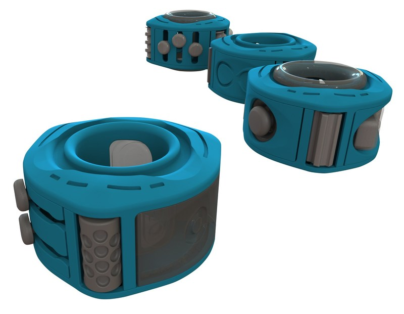 OQUS, which rhymes with focus, is poised to be the successor to the now ubiquitous fidget spinner. Unlike the traditional spinner, OQUS is a fidget ring whose patent pending design allows users to custom-configure their toy with 12 different inserts and 6 rollers.