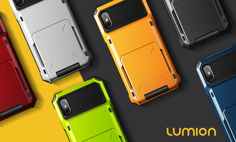 Designed for Convenience - the Chinook card case carries up to 5 cards and the iPhone X in a bright protective shell