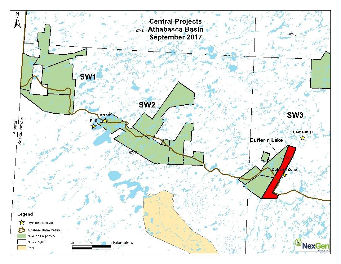 Figure 1. Location Map (CNW Group/NexGen Energy Ltd.)