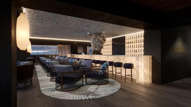 Restaurante Nobu Barcelona, criado pelo Rockwell Group.