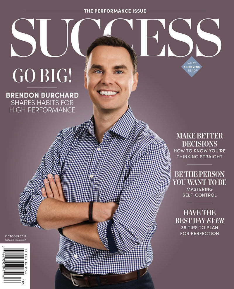 In the October issue of SUCCESS, personal-development visionary Brendon Burchard takes you on the enlightening journey that brought him to where he is today