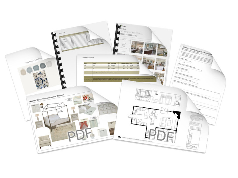 Homeowners receive a complete packet of design materials from Talianko Design Group