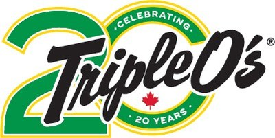 Triple O's 20th anniversary logo. (CNW Group/White Spot Hospitality)