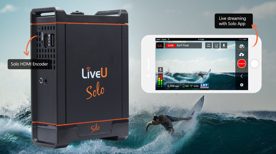 The new LiveU Solo HDMI encoder and iOS app