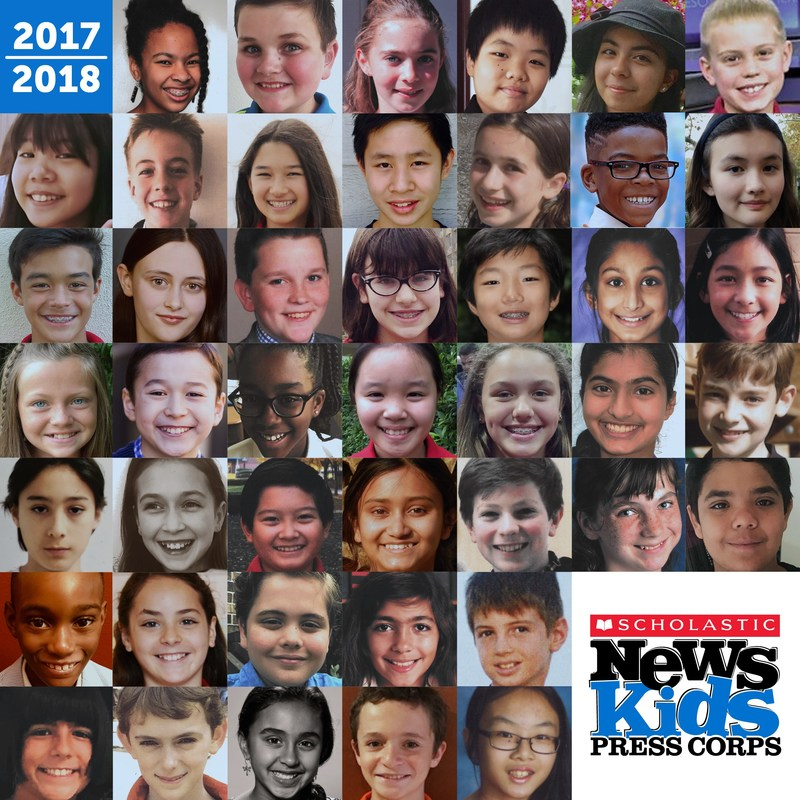 """Kid Reporters from the United States, Australia, China, Hong Kong, India, Thailand, and the United Kingdom to report """"news for kids, by kids"""" as part of the 2017–18 Scholastic News Kids Press Corps™."""