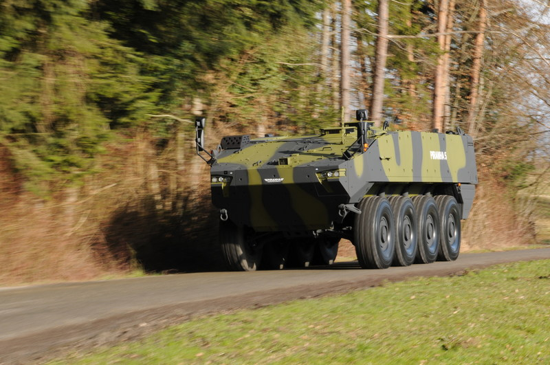 At DSEI 2017, General Dynamics Land Systems–UK and General Dynamics European Land Systems are showcasing PIRANHA 5, General Dynamics' 8x8 platform that is a candidate for the British Army's Mechanised Infantry Vehicle (MIV) Programme.
