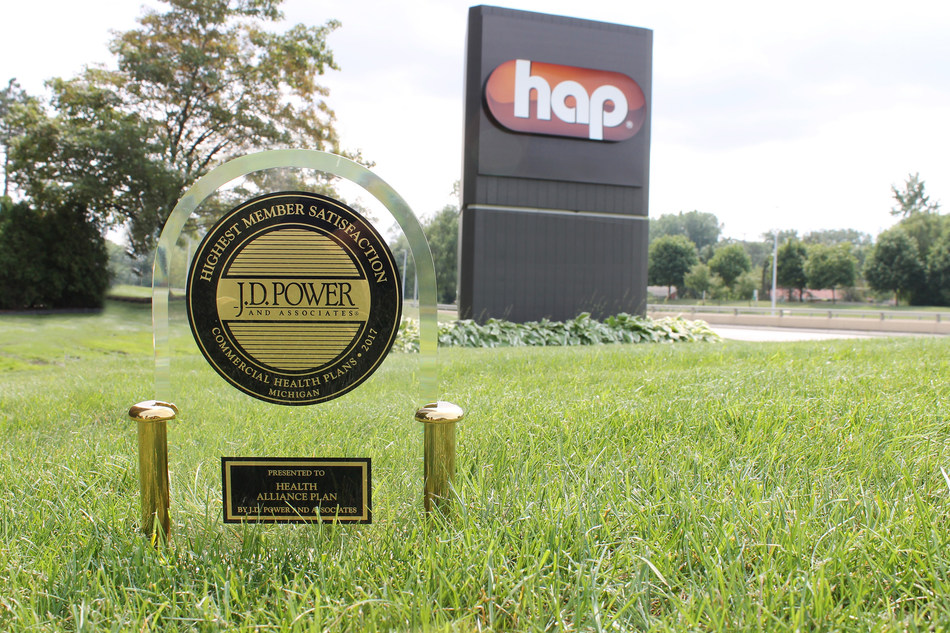Health Alliance Plan (HAP) ranked highest in J.D. Power 2017 member satisfaction study among health plans in the Michigan region. This is HAP's ninth J.D. Power award.
