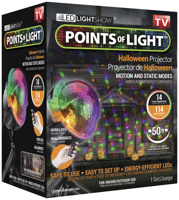 points of light led lightshow for halloween