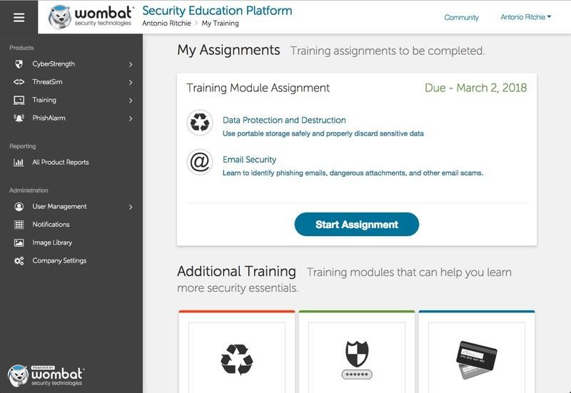 New Wombat Security Education Platform