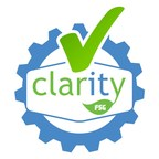 """Offical """"Works with Clarity™"""" logo."""
