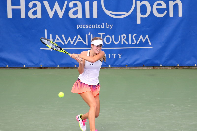 CiCi Bellis wins inaugural Hawaii Open. Photo by Guy Bartleson.