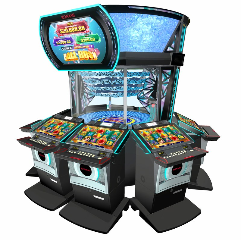 Konami's multi-station Crystal Cyclone™ game delivers community-style bonus entertainment through a novel mechanical bonusing arena at its center. It is one of many Konami G2E highlights designed to attract and engage diverse audiences through uniquely enjoyable play experiences.