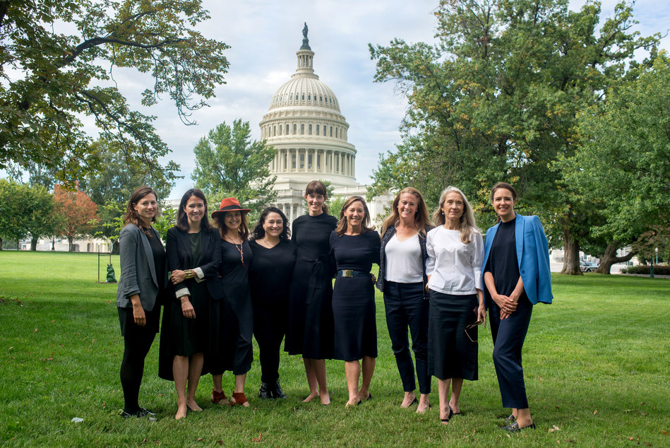 Some members of the Counteract Coalition: CEOs and Founders of beauty brands. From L-R: Johanna Peet of Peet Rivko, Tara Foley of Follain, Jenefer Palmer & Melissa Palmer of OSEA, Adair Ilyinsky of tenoverten, Gregg Renfrew of Beautycounter, Mary Lennon of côte, Caroline Hadfield of Biossance, Nadine Abramcyk of tenoverten