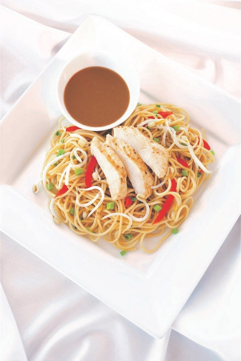 Thai Chicken and SunButter Noodles