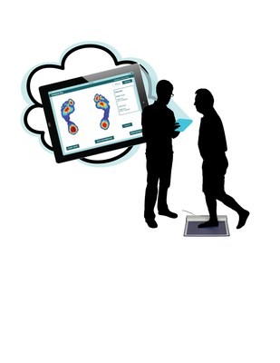 Educate customers about their digital footprint using a wireless pressure measurement mat and tablet based customer engagement software.