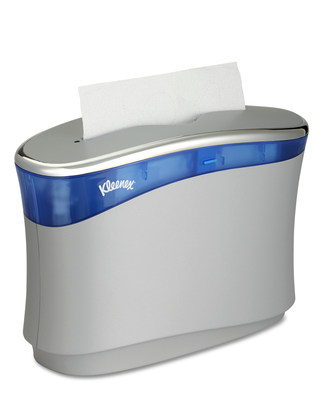 The new Kleenex® Reveal Countertop System from Kimberly-Clark Professional provides high-capacity, user-preferred towels right at the sink where they're needed most.