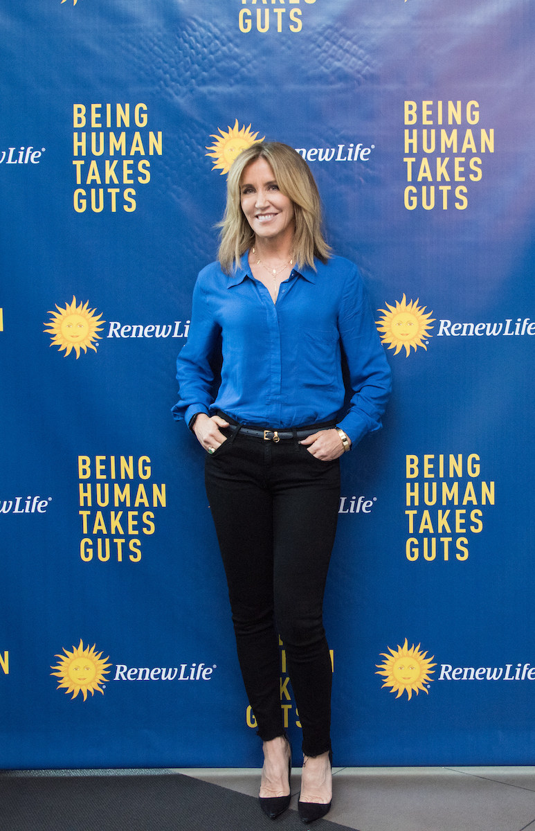 Emmy-nominated actress Felicity Huffman revealed how starting a probiotic regimen 15 years ago helps her maintain a healthy gut. She said she attributes much of her success as a wife, mom and actress to her gut health at the Renew Life Probiotics Power Your Potential panel at Gansevoort Park Ave NYC on Tuesday, Sept. 12, 2017 in New York. (Photo by Loren Wohl/Invision for Renew Life Probiotics/AP Images)