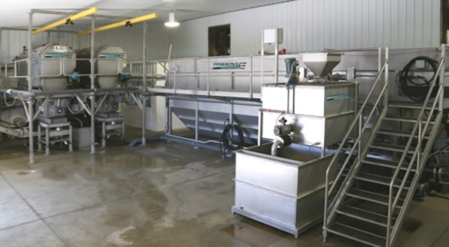 The new Trident Nutrient Recovery System at Prairie's Edge's Site-2 Farm recovers nutrients from 3500 cows.