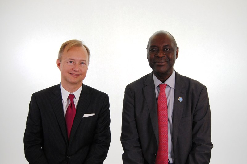Chris LeGrand, President of DAI Global Health, and Pape Amadou Gaye, CEO of IntraHealth International