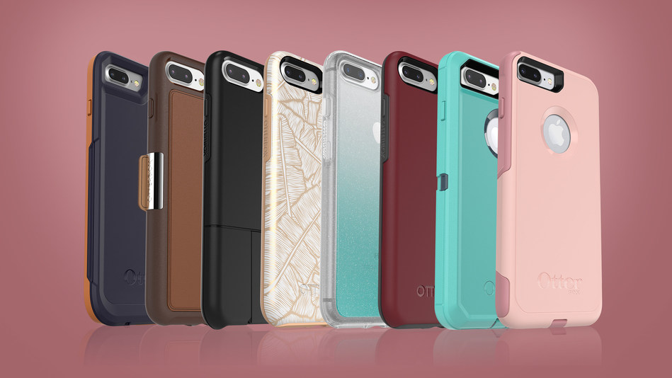 OtterBox announces a full line-up of cases for iPhone 8 Plus, available now on otterbox.com. Cover iPhone 8 Plus from drops, dings and scratches with Symmetry Series, Pursuit Series, Defender Series, Commuter Series, uniVERSE Case System, Strada Series Folio and Alpha Glass screen guards. (PRNewsfoto/OtterBox)