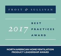 2017 North American Home Ventilation Product Leadership Award (PRNewsfoto/Frost & Sullivan)