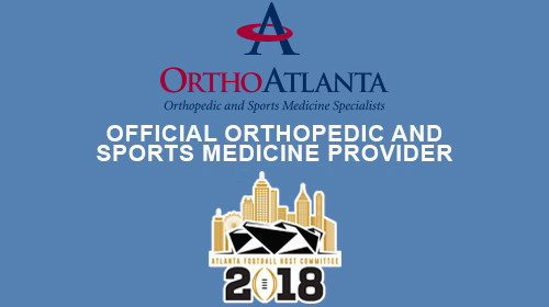 OrthoAtlanta serves as official orthopedic and sports medicine provider to the Atlanta Football Host Committee for the 2018 College Football Playoff National Championship