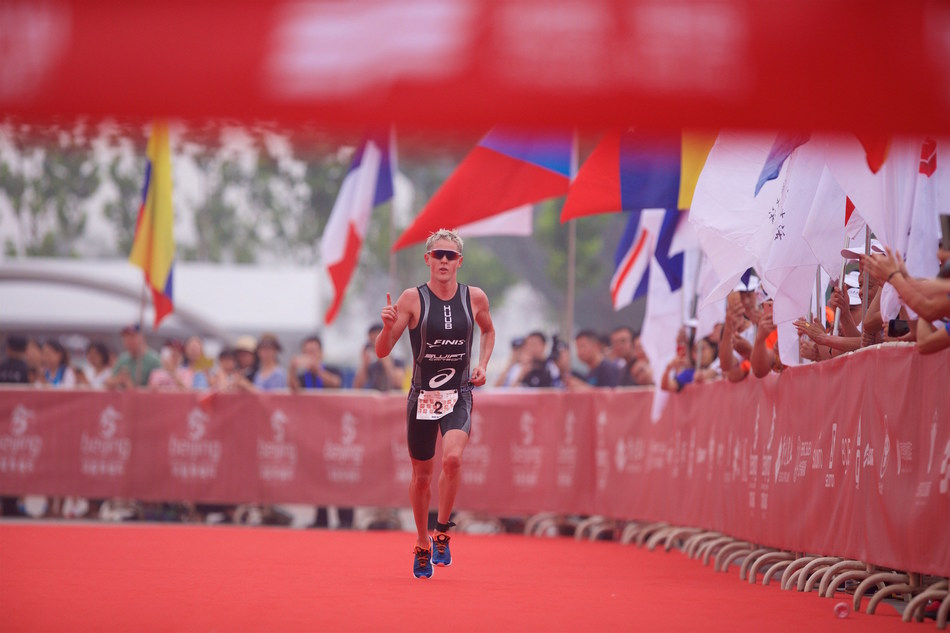 """It's a great feeling to win here in Beijing at a non-drafting race against such a strong field of triathletes,"" said 2017 Beijing International Triathlon Champion Henri Schoeman."