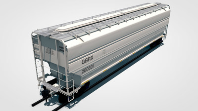 Greenbrier's 5446 cubic foot medium covered hopper car. Optimized for transporting lighter weight agricultural products.