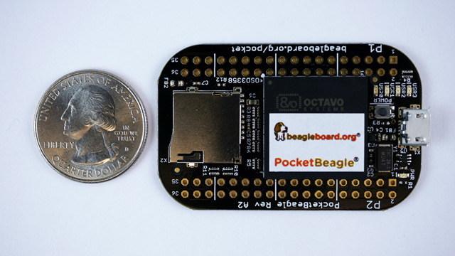 $25 BeagleBoard.org PocketBeagle(R) hobbyist, educator and professional friendly computer project