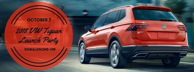 Donaldsons Volkswagen to host a special party to celebrate the arrival of the 2018 Tiguan