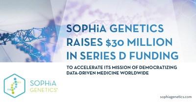 SOPHiA GENETICS raises $30 Million in Series D Funding (PRNewsfoto/SOPHiA GENETICS)